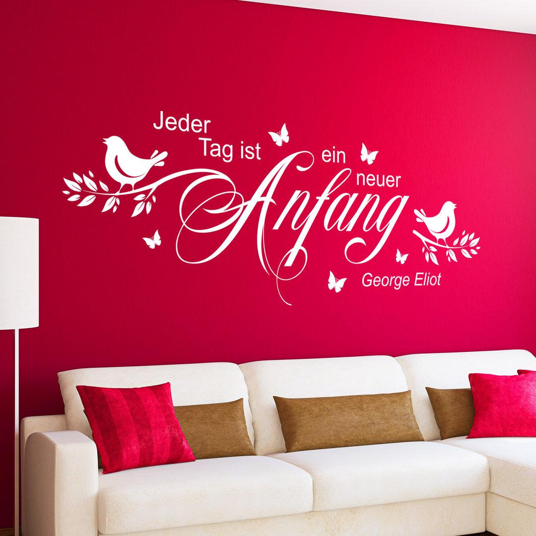 Schlafzimmer Wandtattoos und Wandaufkleber mit tollen Sprüchen