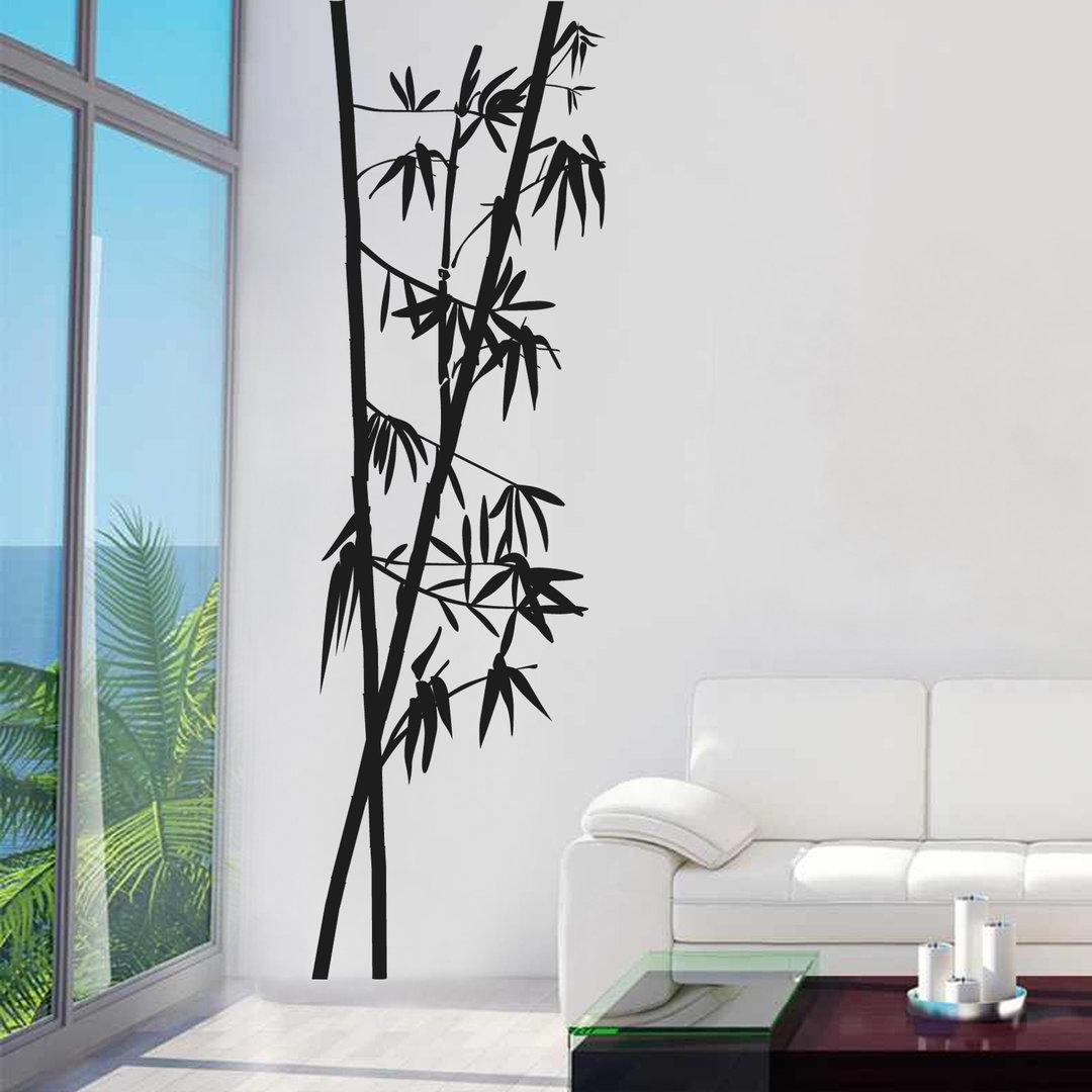 wandtattoo bambus zweige ste baum bl tter asiatisch. Black Bedroom Furniture Sets. Home Design Ideas