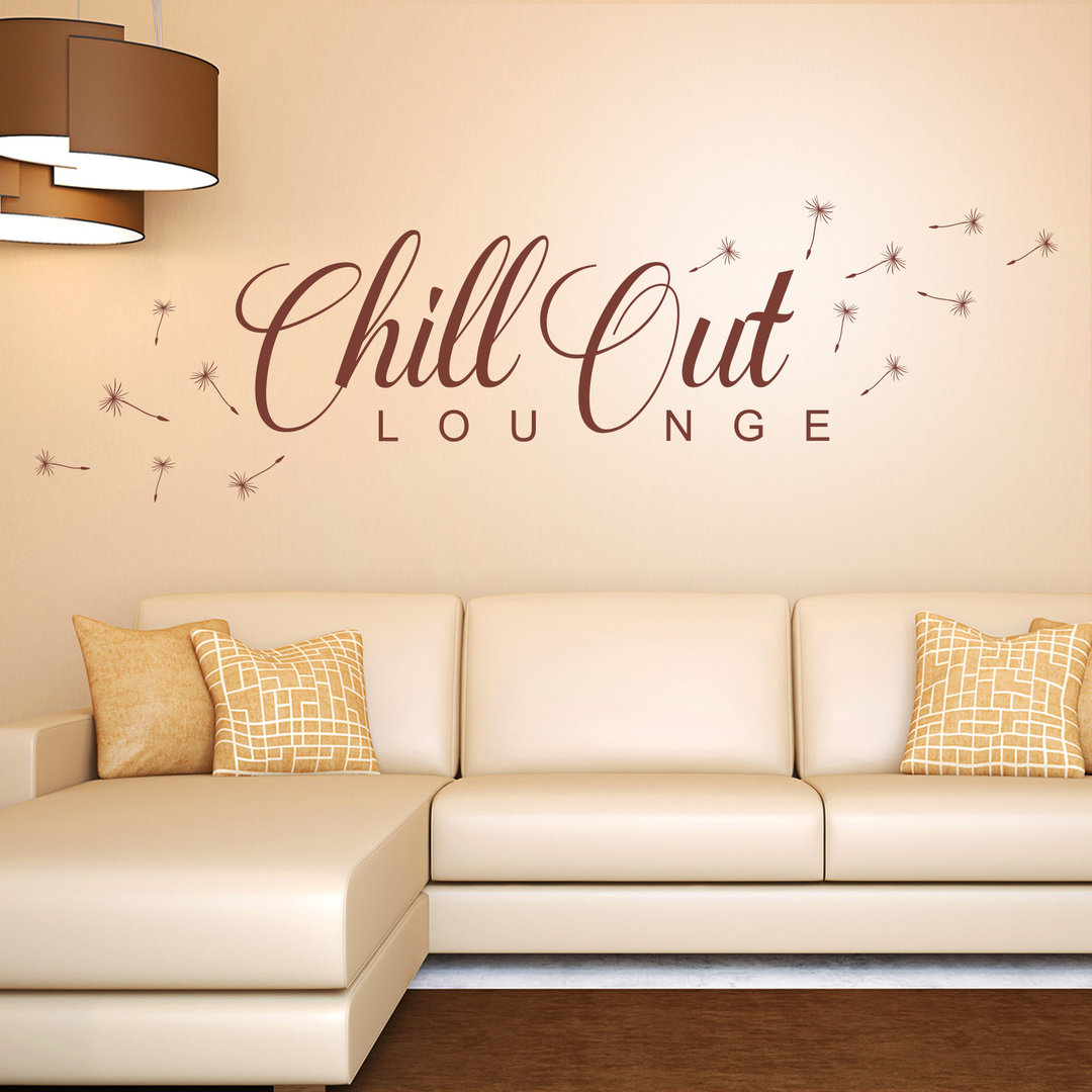 wandtattoo chill out lounge mit l wenzahn flugsamen. Black Bedroom Furniture Sets. Home Design Ideas