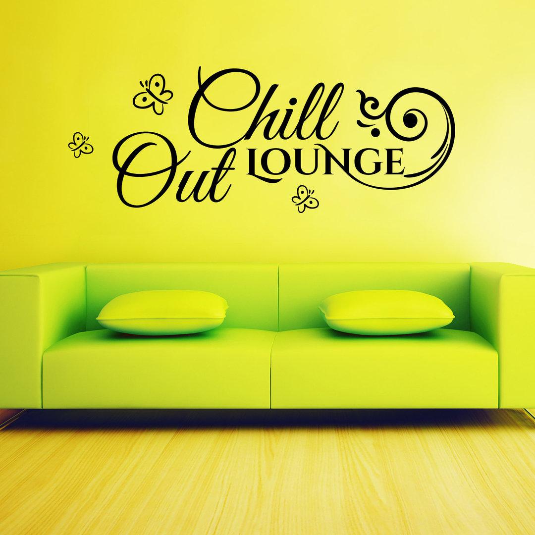 wandtattoo chill out lounge mit blumenranke und. Black Bedroom Furniture Sets. Home Design Ideas