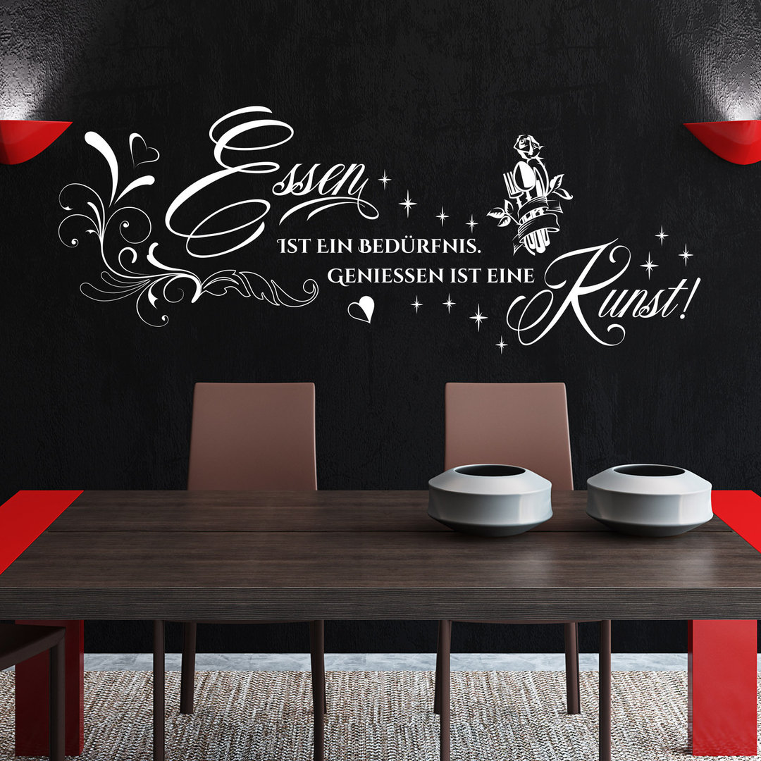 Wandtattoo essen ist ein bed rfnis genie en ist eine kunst deko - Wandtattoo besteck ...