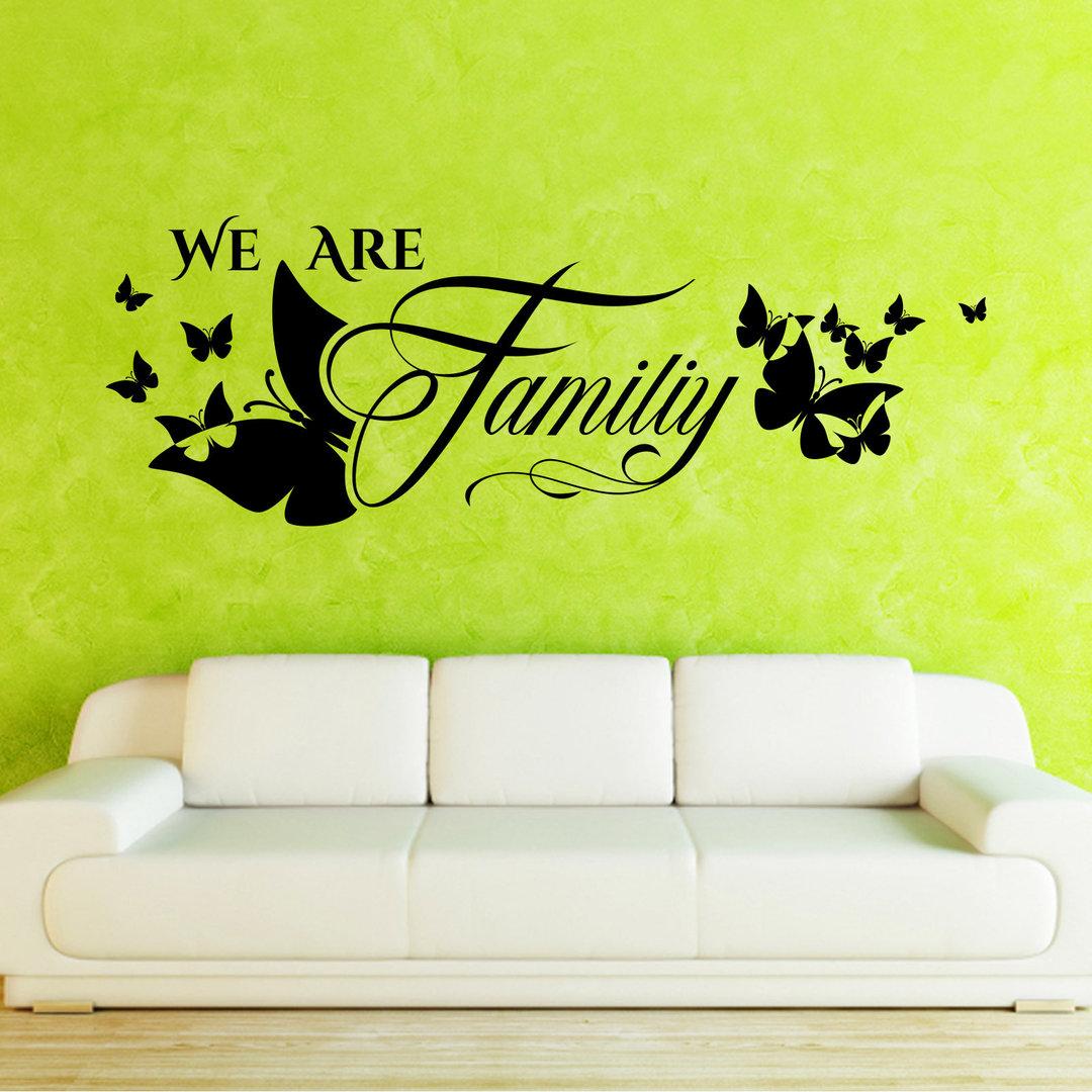Wandtattoo we are family wir sind eine familie m - Wandtattoo family ...