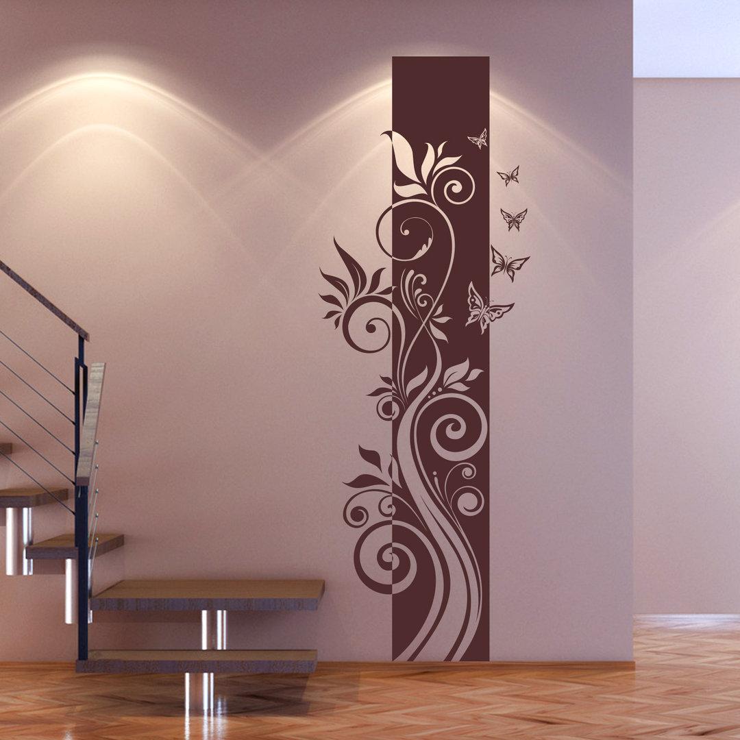 wandtattoo blumen ranke floral banner hochgestellt hochformat. Black Bedroom Furniture Sets. Home Design Ideas