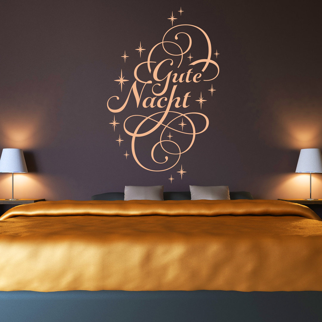 wandtattoo gute nacht schlaf gut deko idee f r schlafzimmer. Black Bedroom Furniture Sets. Home Design Ideas