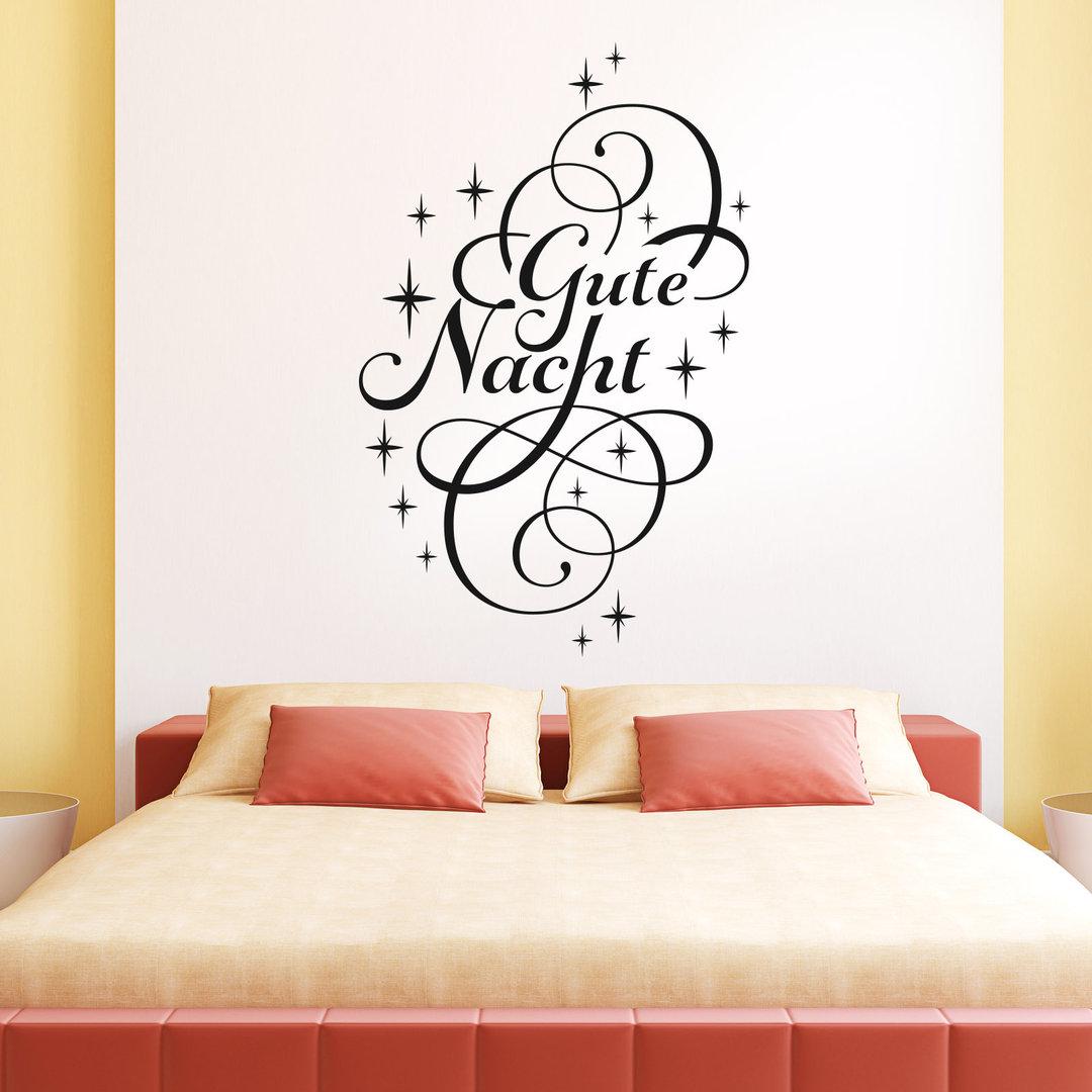 wandtattoo gute nacht schlaf gut deko idee f r. Black Bedroom Furniture Sets. Home Design Ideas