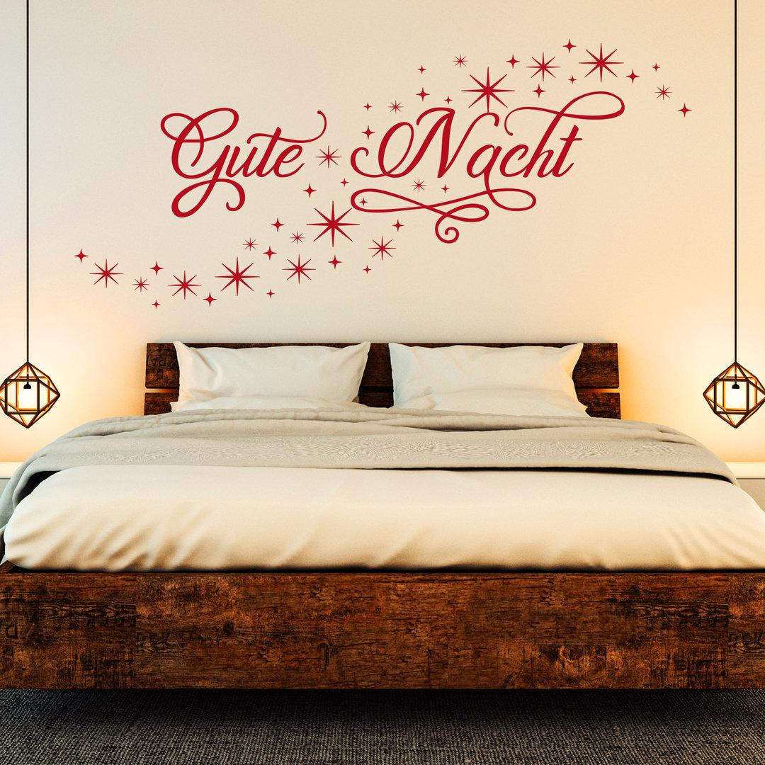 wandtattoo gute nacht sternenhimmel sternschnuppe. Black Bedroom Furniture Sets. Home Design Ideas