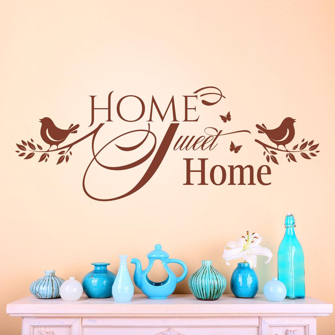Wandtattoo Home wandtattoo home home in unserem zuhause fühlen wir uns wohl