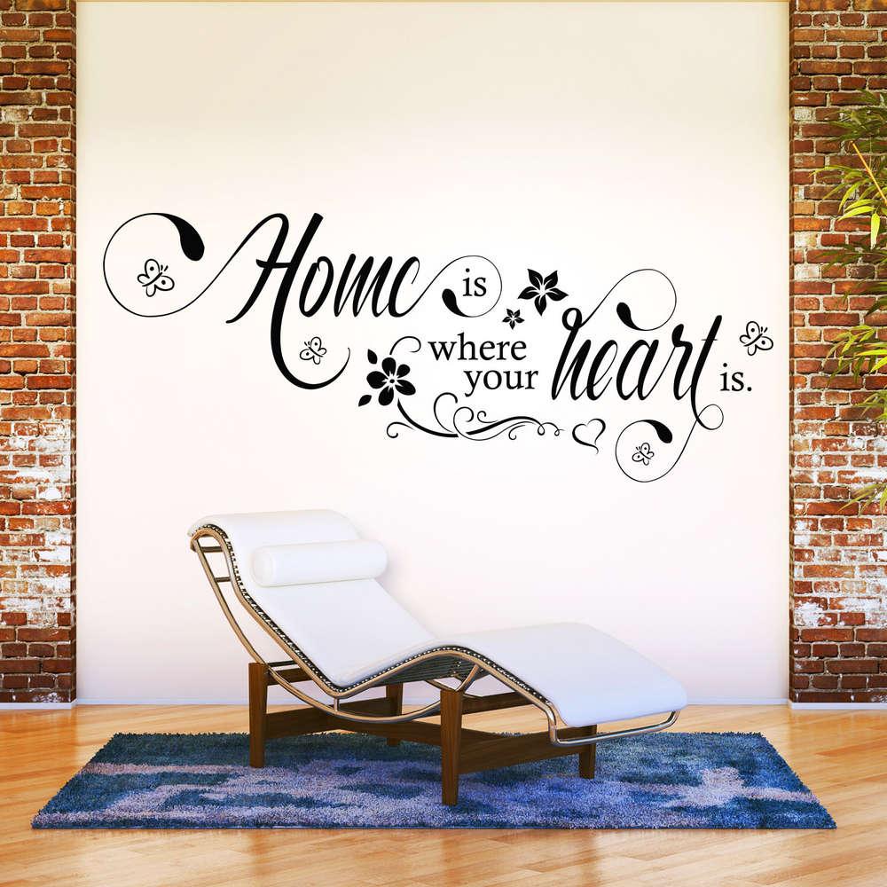 Wandtattoo Home wandtattoo home is where your is deko idee für familien