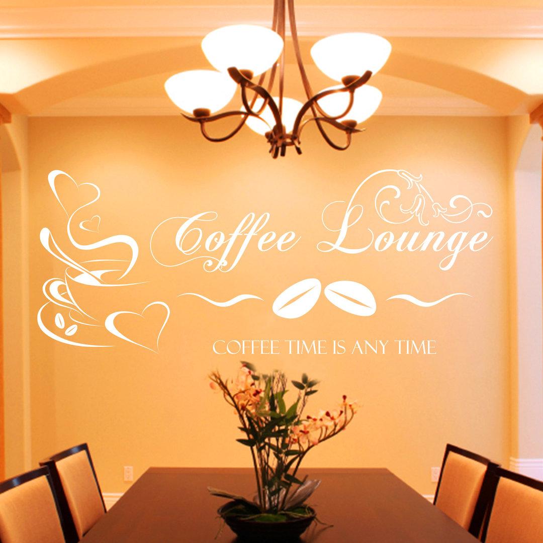 wandtattoo coffee lounge kaffee motiv f r k che und. Black Bedroom Furniture Sets. Home Design Ideas