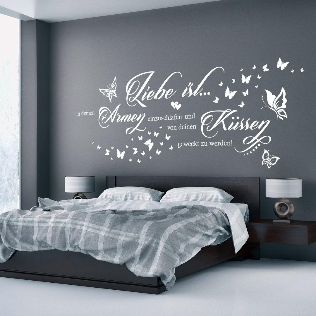 wandtattoo liebe ist in deinen armen einzuschlafen paar spruch. Black Bedroom Furniture Sets. Home Design Ideas