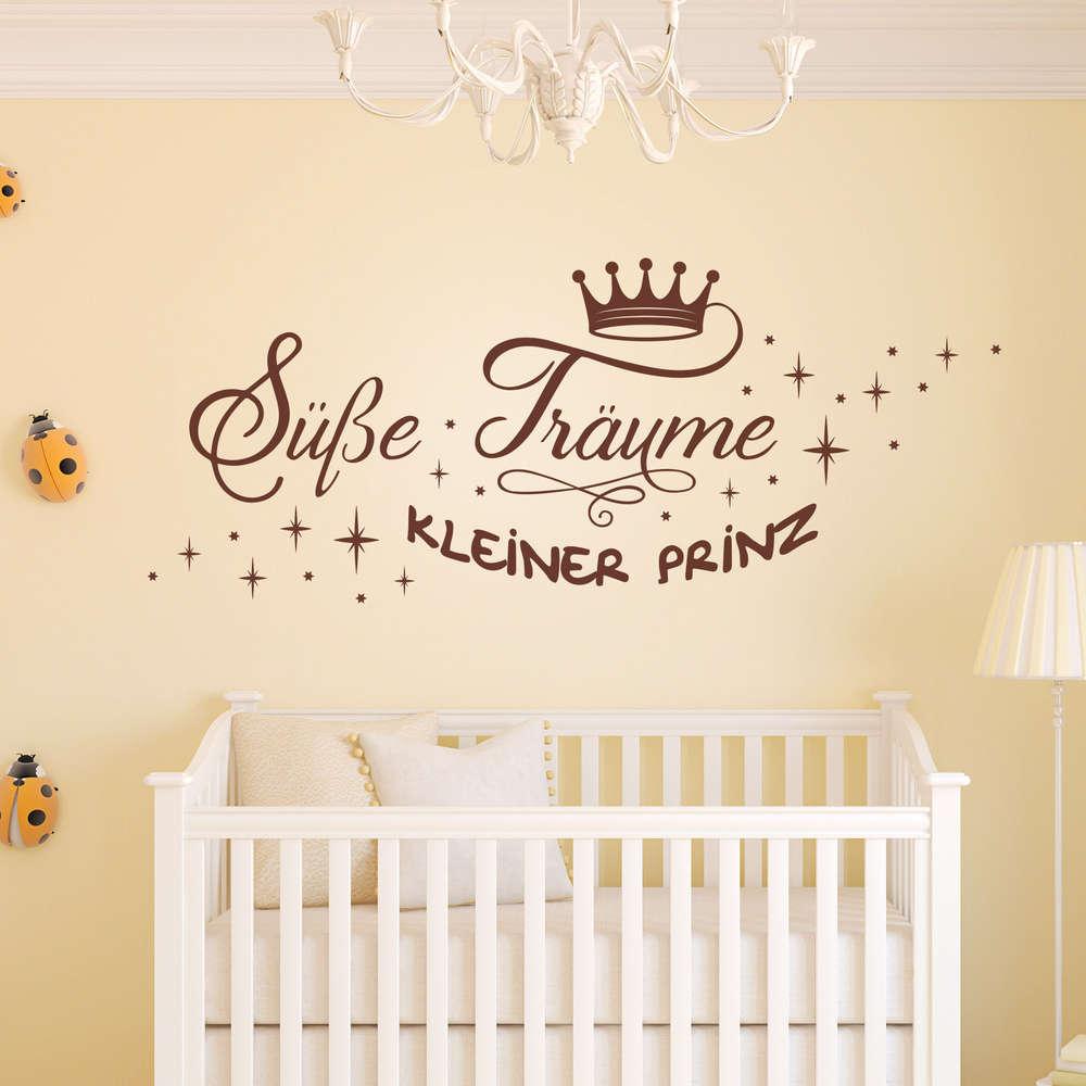 Wandtattoo Süße Träume kleiner Prinz. Kinderzimmer. Schlaf gut.