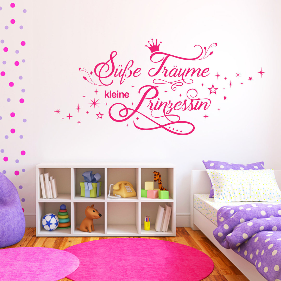 wandtattoo s e tr ume kleine prinzessin kinderzimmer m dchen. Black Bedroom Furniture Sets. Home Design Ideas