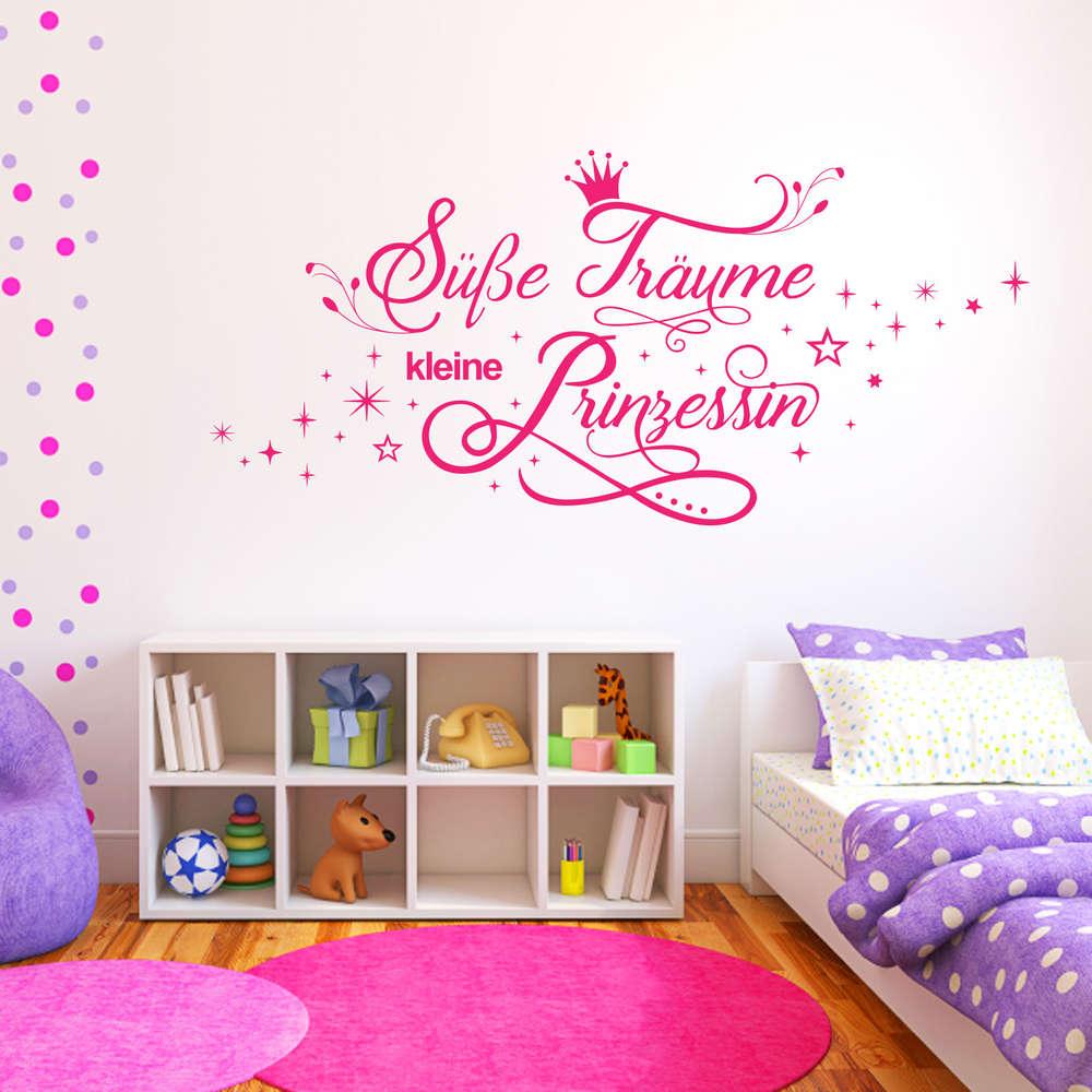Wandtattoo Süße Träume kleine Prinzessin. Kinderzimmer. Mädchen.