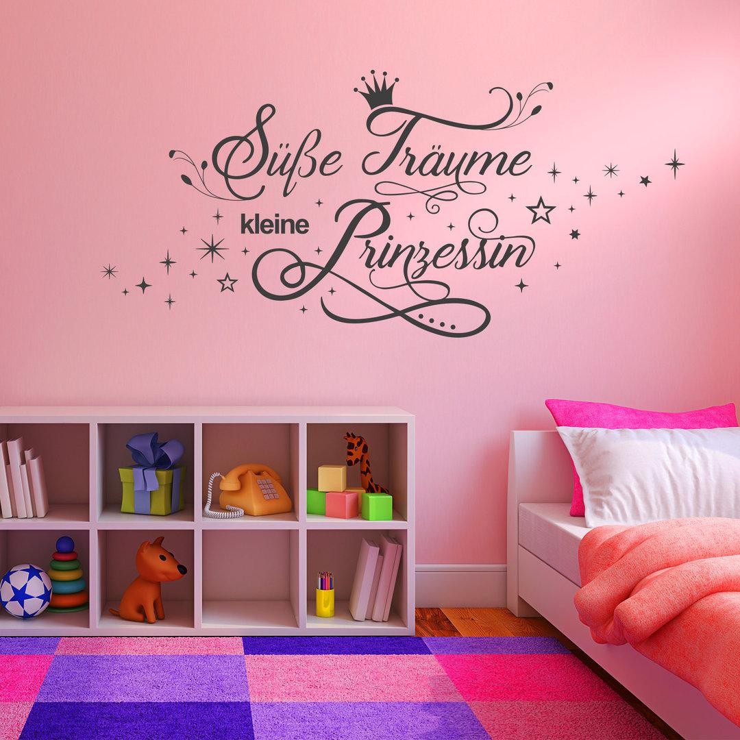 wandtattoo s e tr ume kleine prinzessin kinderzimmer m dchen. Black Bedroom Furniture Sets. Home Design Ideas