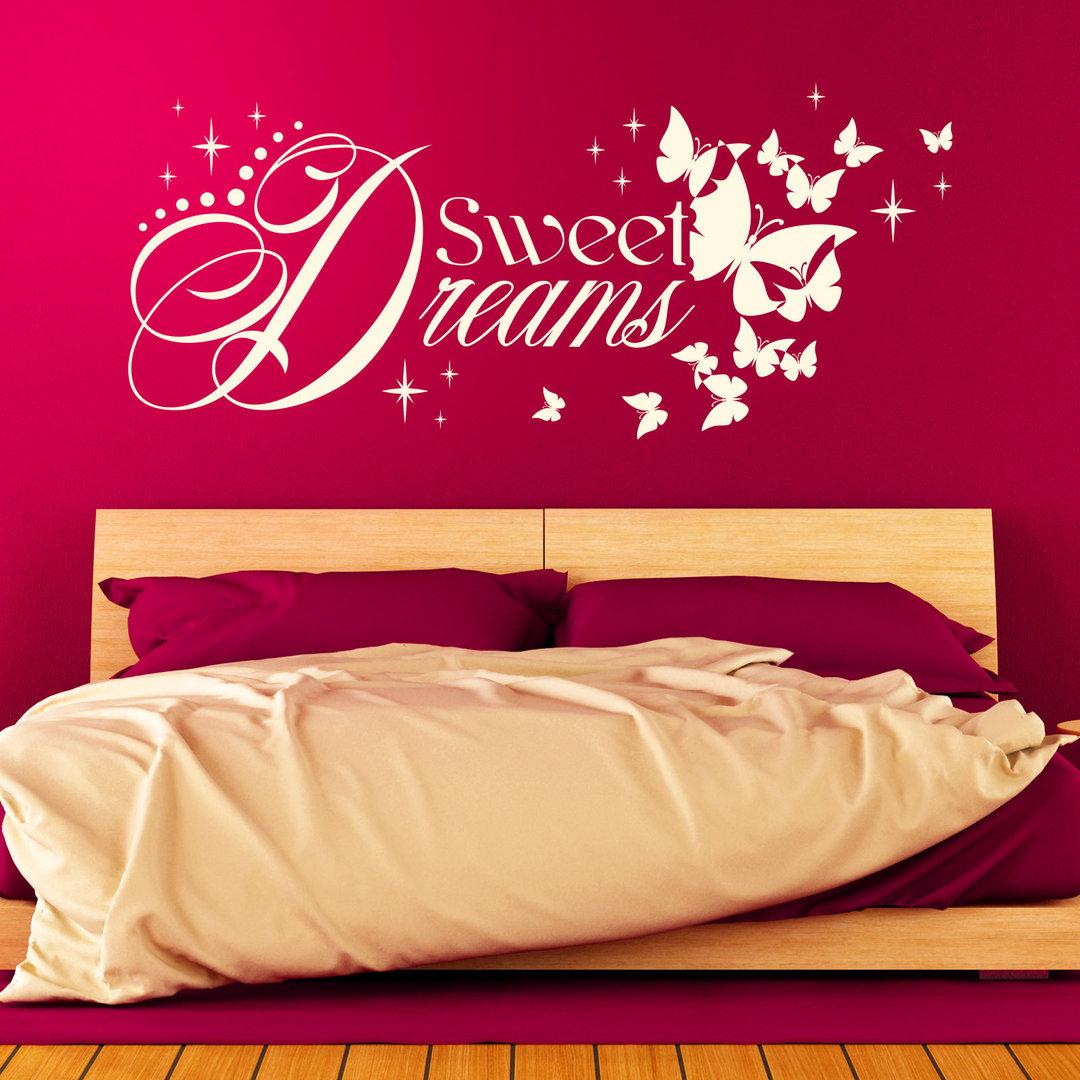 wandtattoo sweet dreams gute nacht schlaf gut spruch schlafzimmer. Black Bedroom Furniture Sets. Home Design Ideas