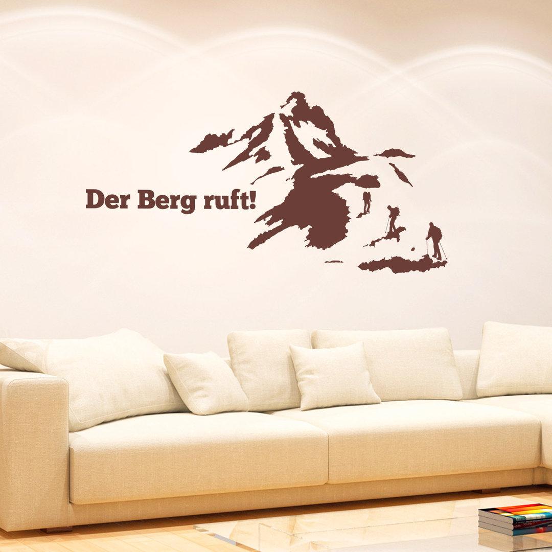wandtattoo der berg ruft wand aufkleber bergsteigen wandern. Black Bedroom Furniture Sets. Home Design Ideas
