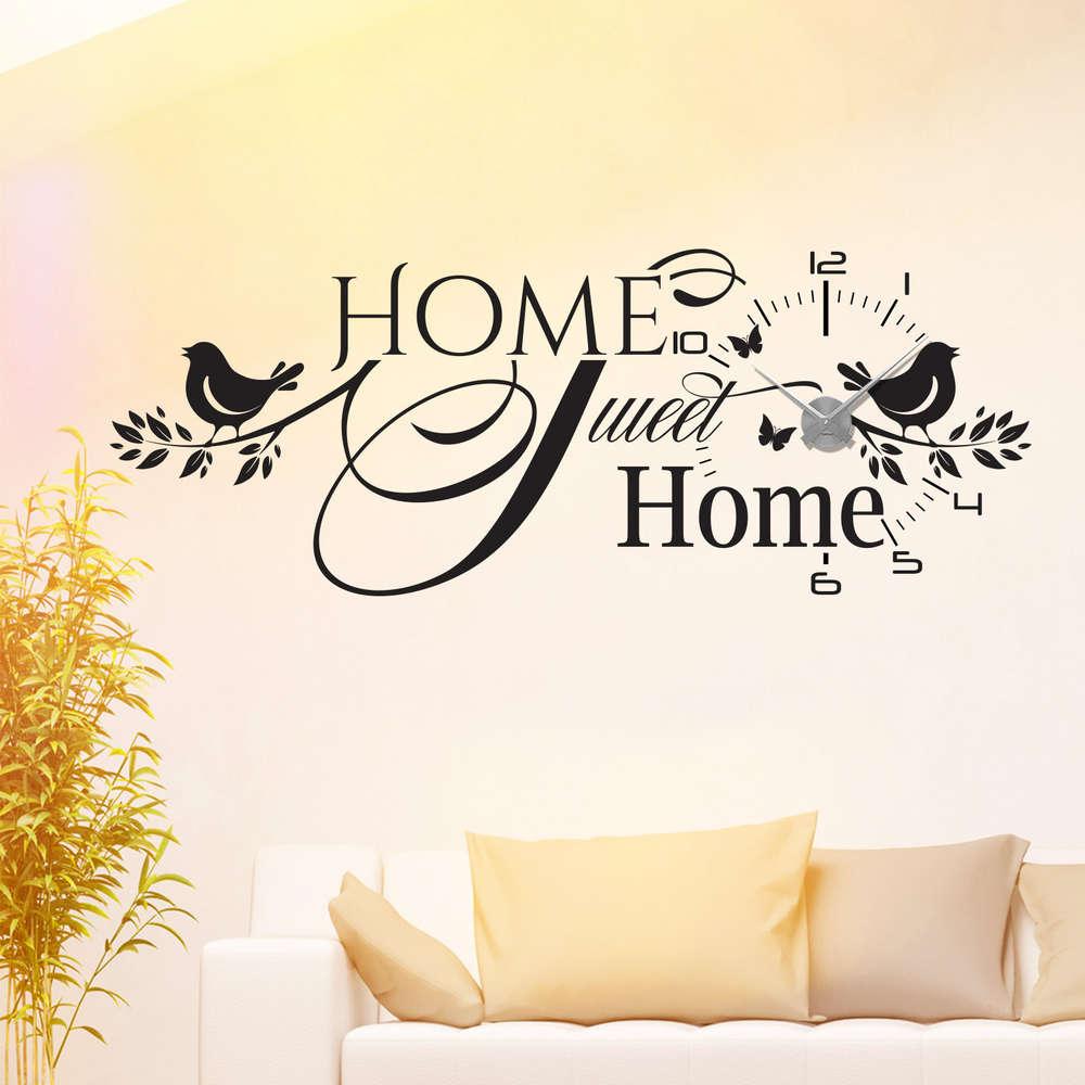 Fabelhaft Wandtattoo Home Sweet Home Sammlung Von Wandtattoo-uhr