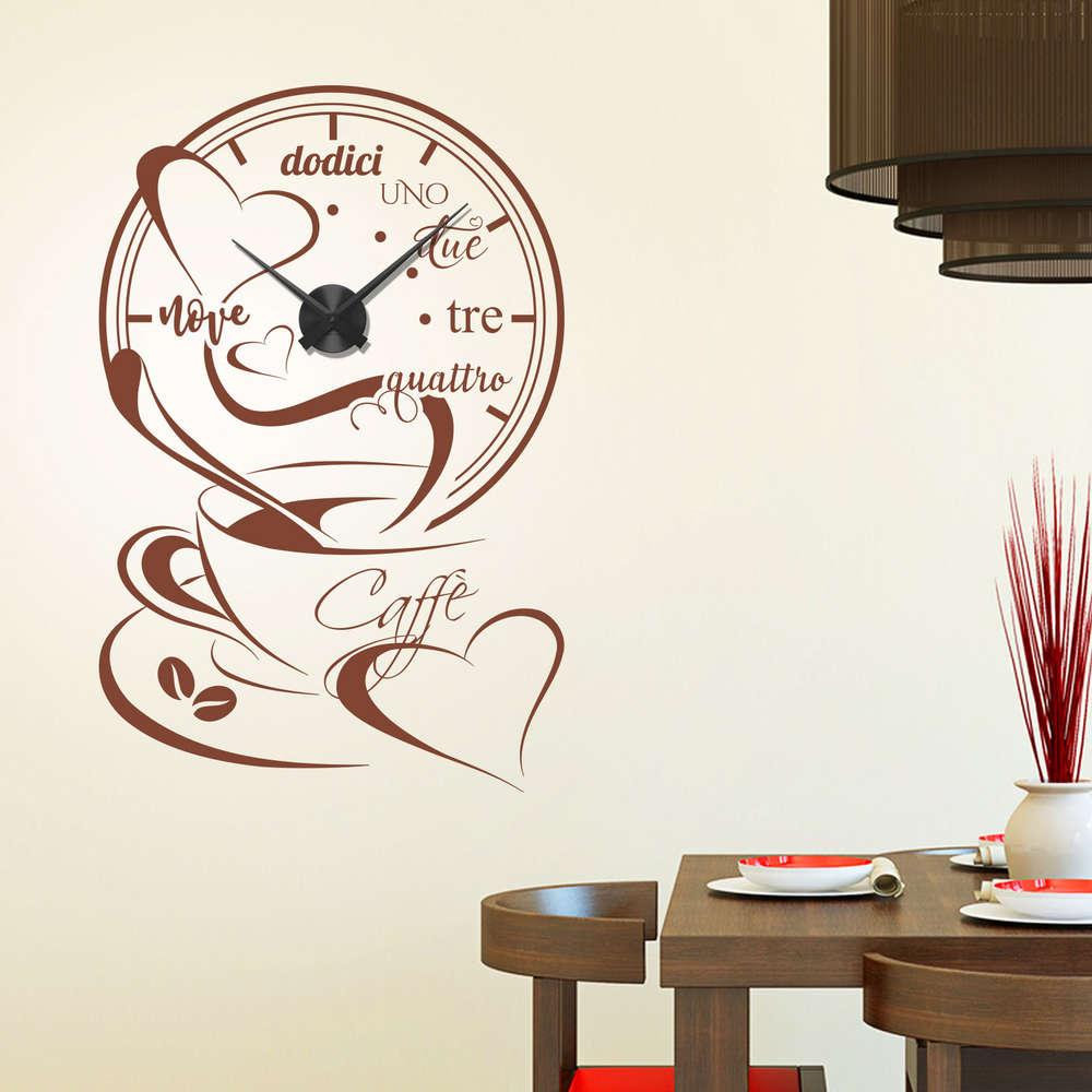 Wandtattoo Uhr Kuche - Wohndesign Ideen