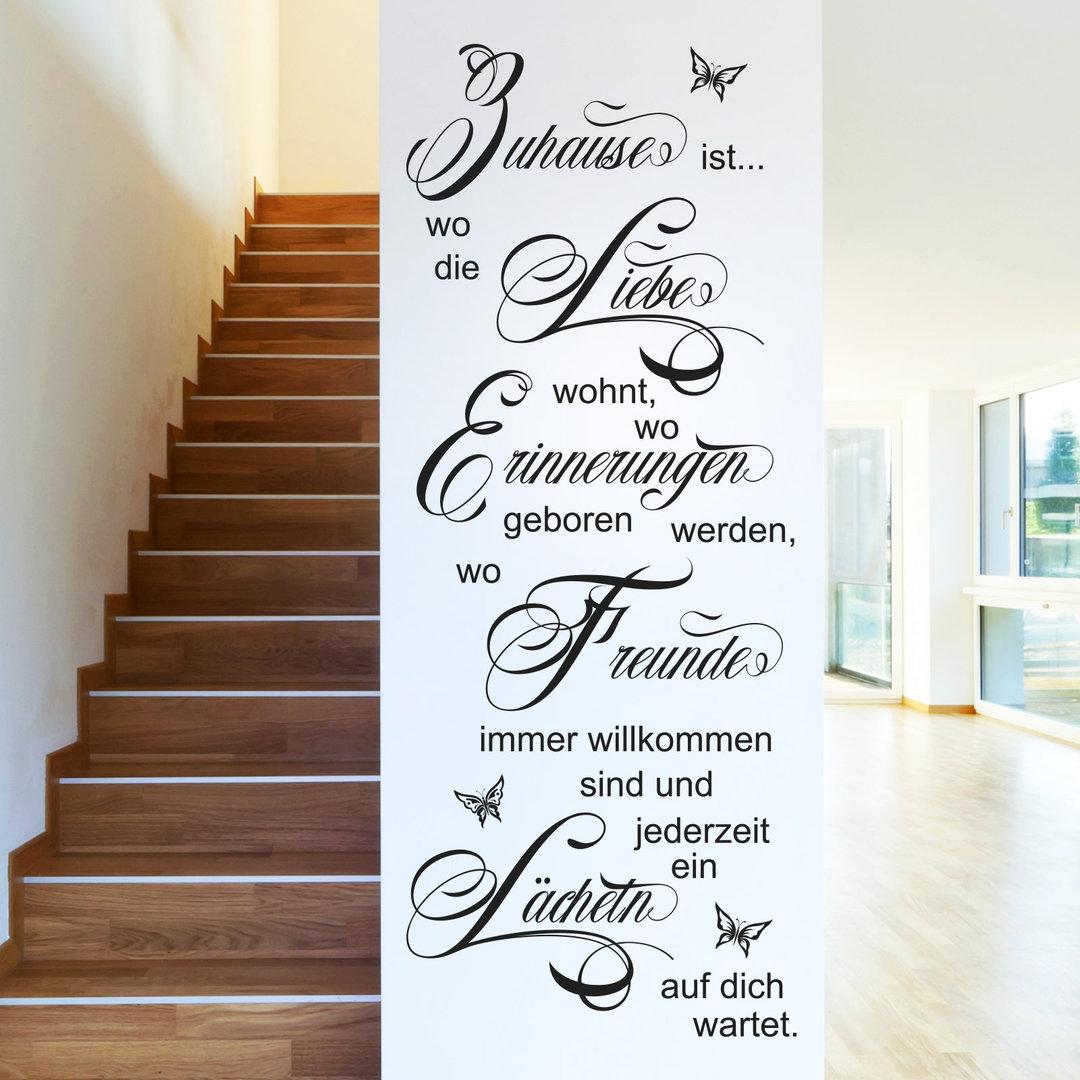 Bezaubernd Wandtattoo Zuhause Ist Das Beste Von Ist, Wo Die Liebe Wohnt.