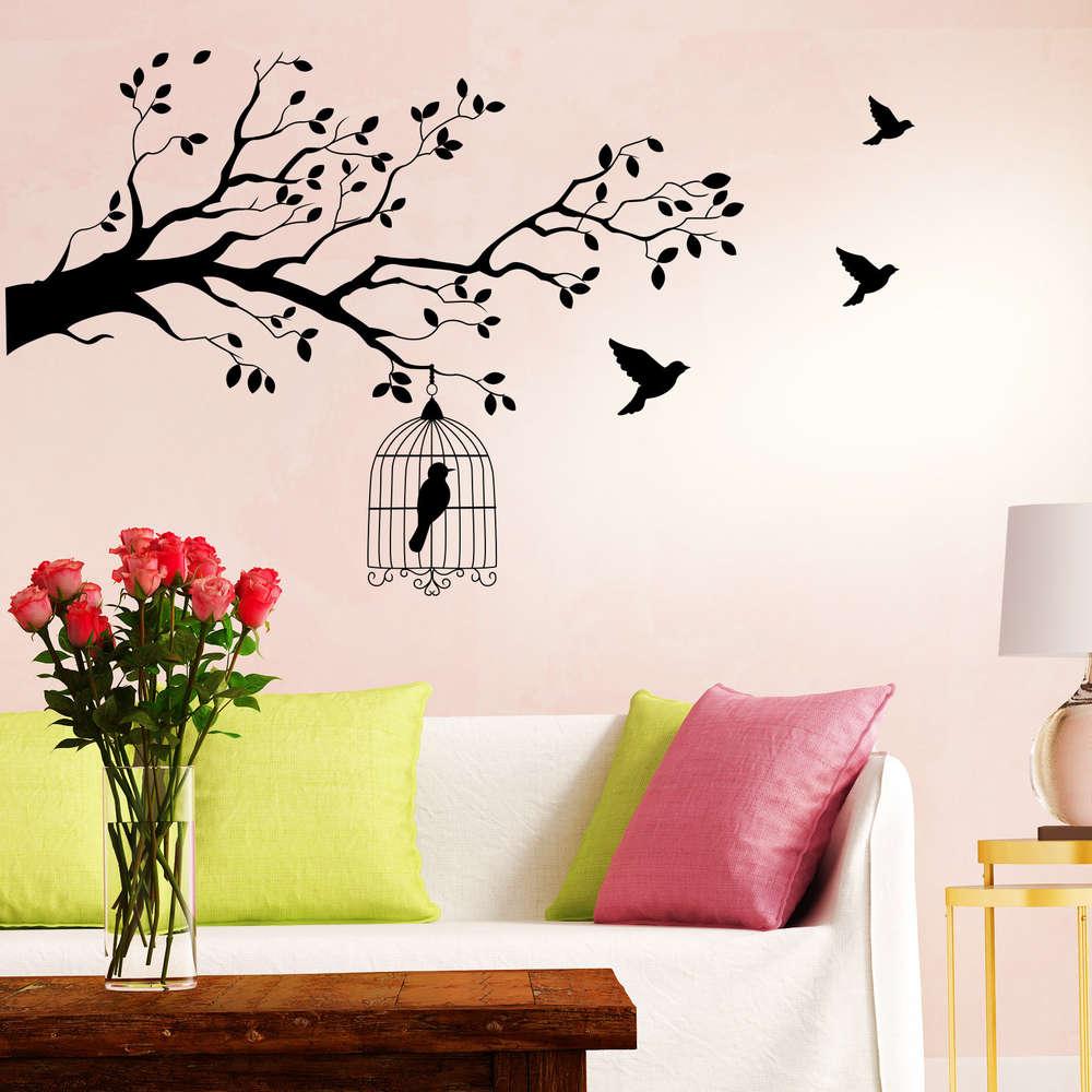 Innenarchitektur Wandtattoo Bäume Galerie Von Vogelkäfig Im Baum