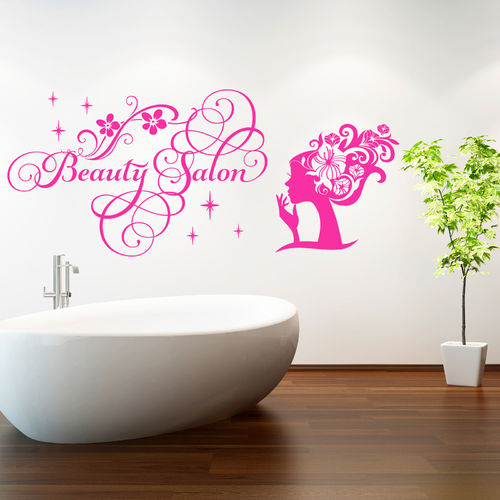 Wandtattoo Beauty Salon