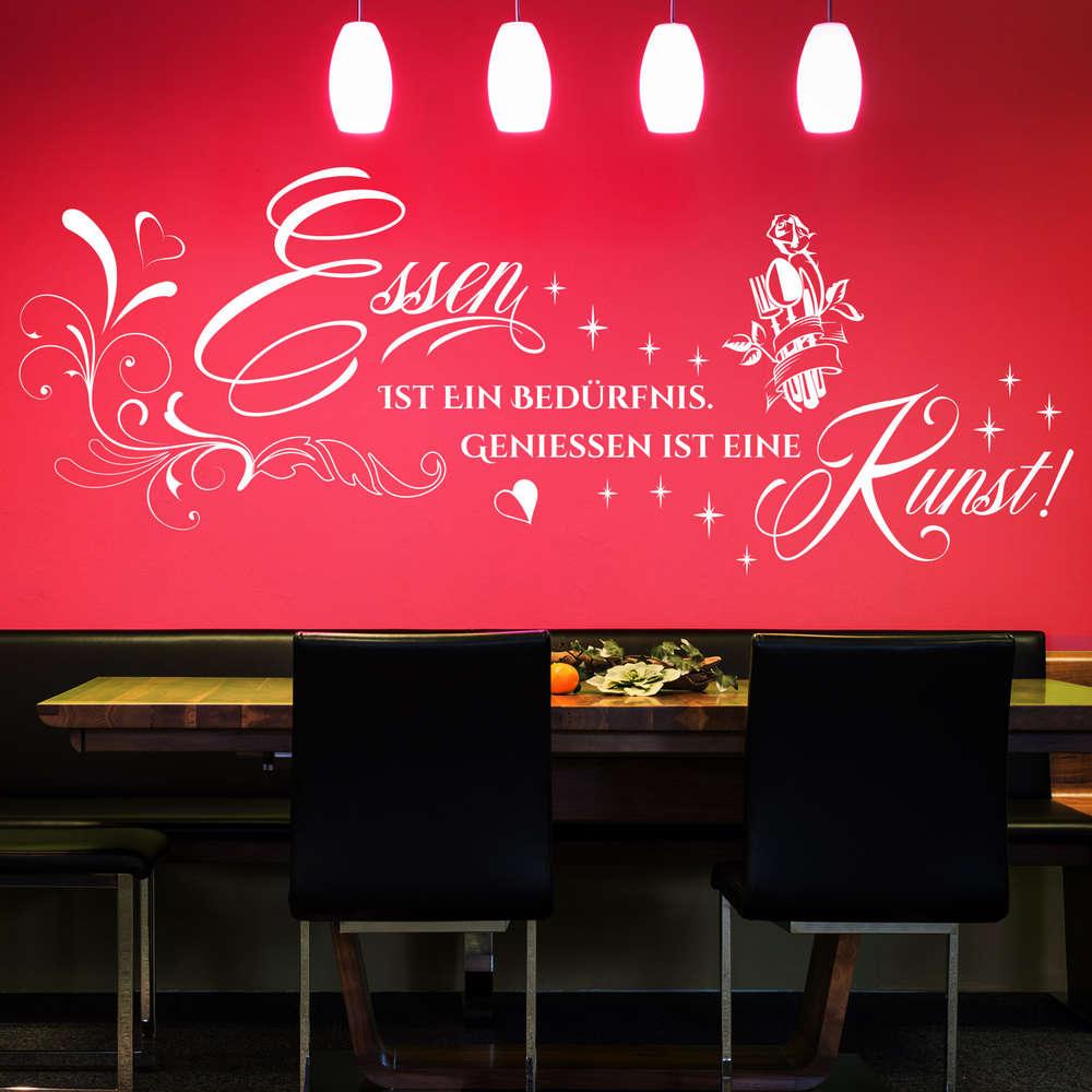 Wandtattoo Essen Ist Ein Bedurfnis Geniessen Ist Eine Kunst Deko
