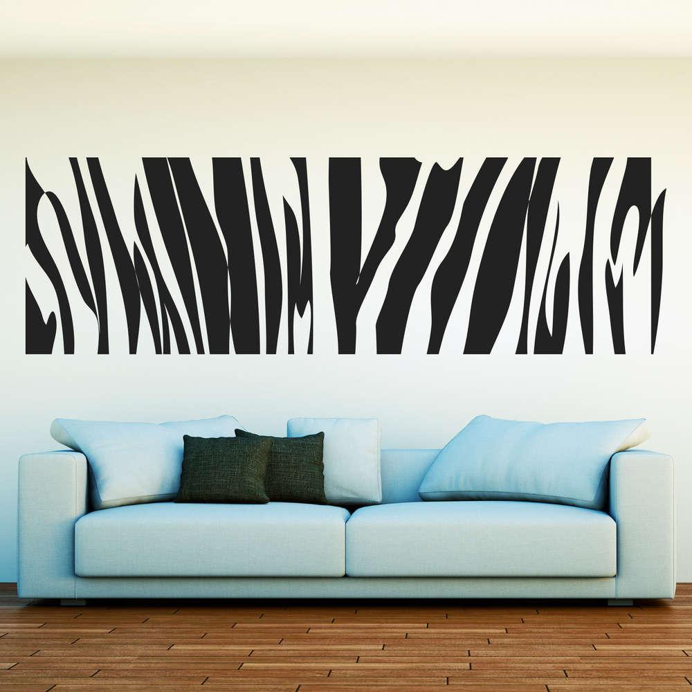 Wandtattoo Zebra Fell Deko Im Modernen Design Fur Das Wohnzimmer
