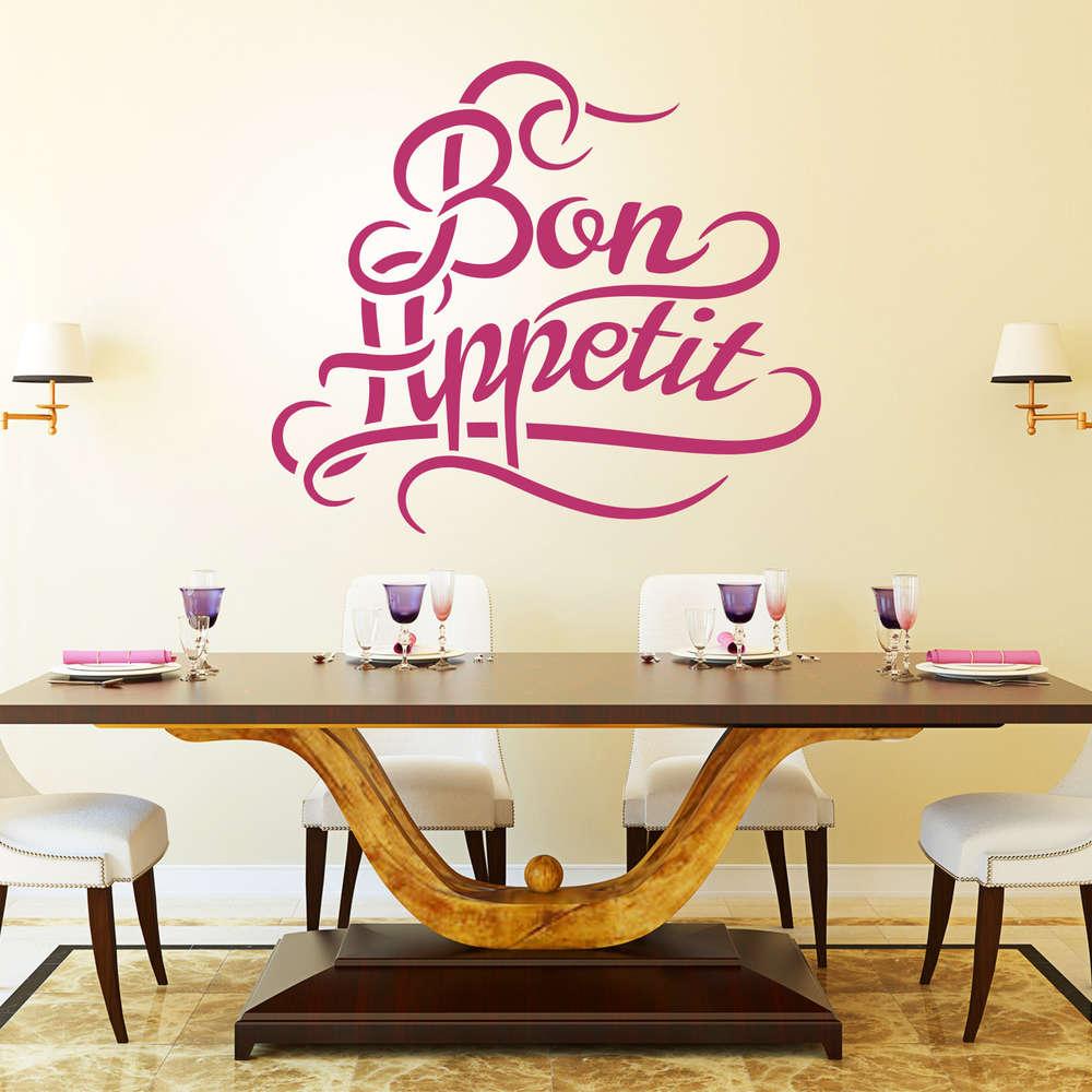 Wandtattoo Bon Appetit | Guten Appetit | Wand-Bild für die Küche.