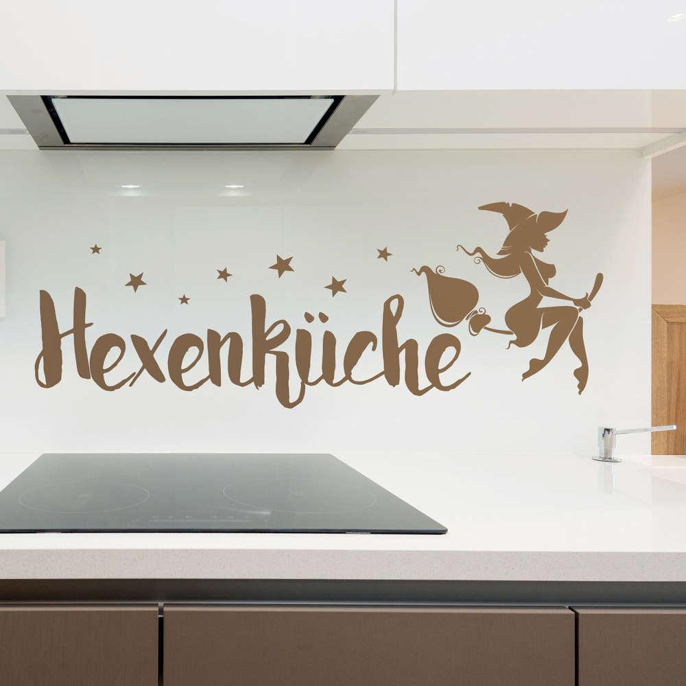 Wandtattoo Hexenküche m. Sternen. Lustige Deko Idee für die Küche