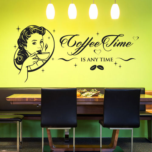 Wandtattoo Coffee Time is any time
