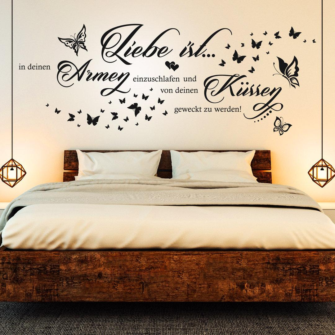 Wandtattoo Liebe Ist In Deinen Armen Einzuschlafen Paar Spruch