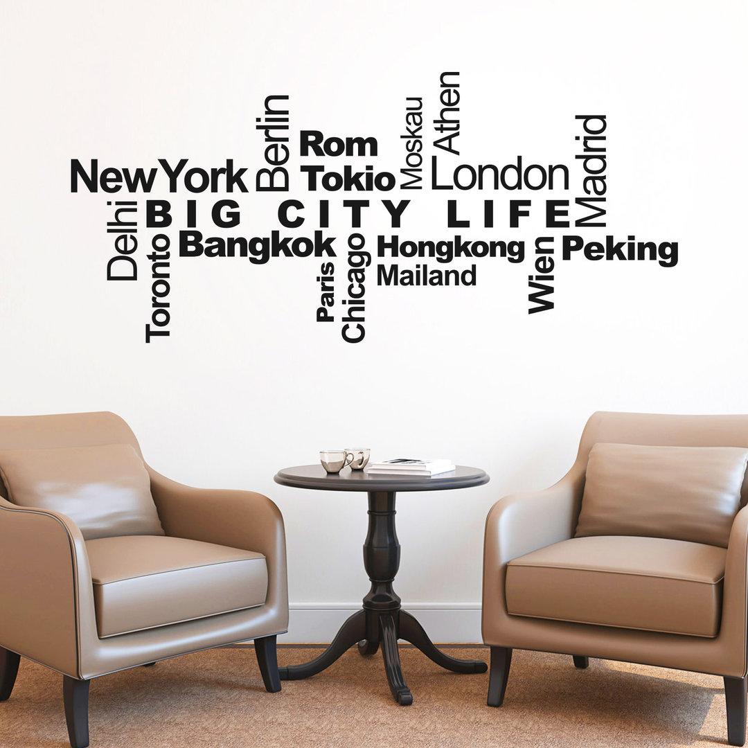 Exquisit New York Wandtattoo Referenz Von Städte & Metropolen Wortwolke