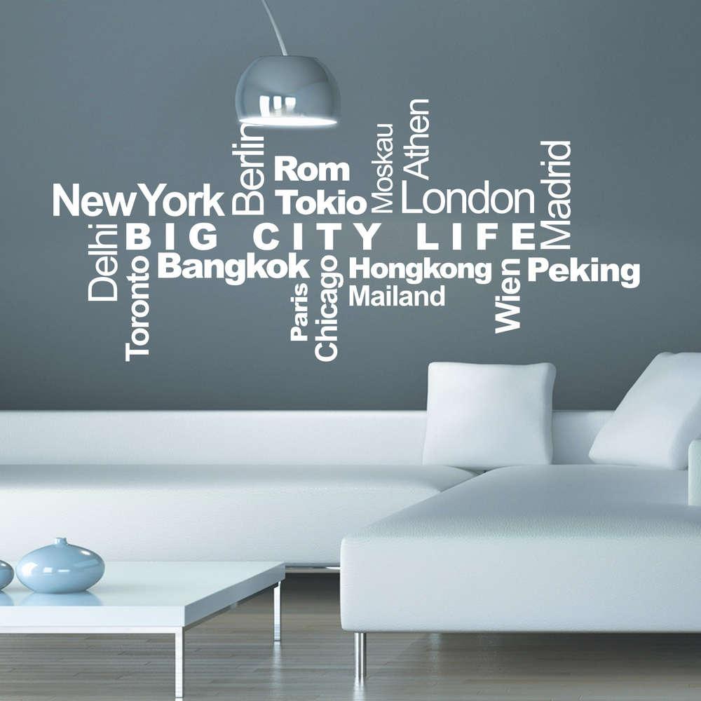 Schön New York Wandtattoo Galerie Von Städte & Metropolen Wortwolke