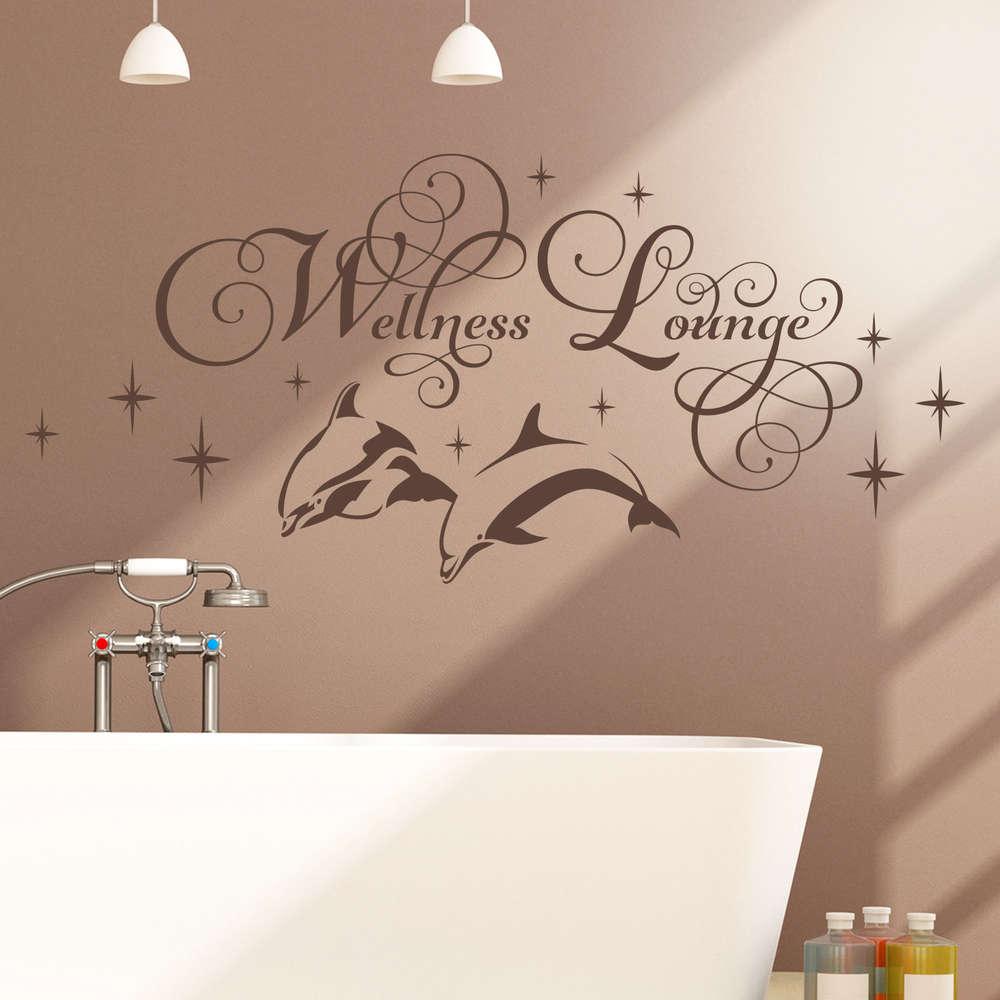 Wandtattoo Wellness Lounge Mit Delfinen Sternen Für Badezimmer - Wandtattoos fürs badezimmer