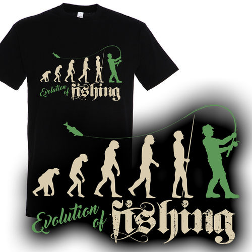 T-Shirt Evolution of fishing