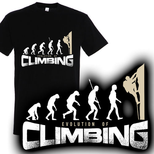 T-Shirt Evolution of climbing