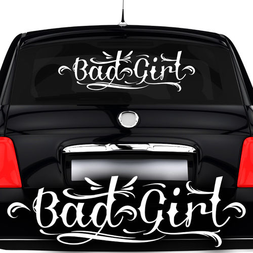 Autoaufkleber Bad Girl