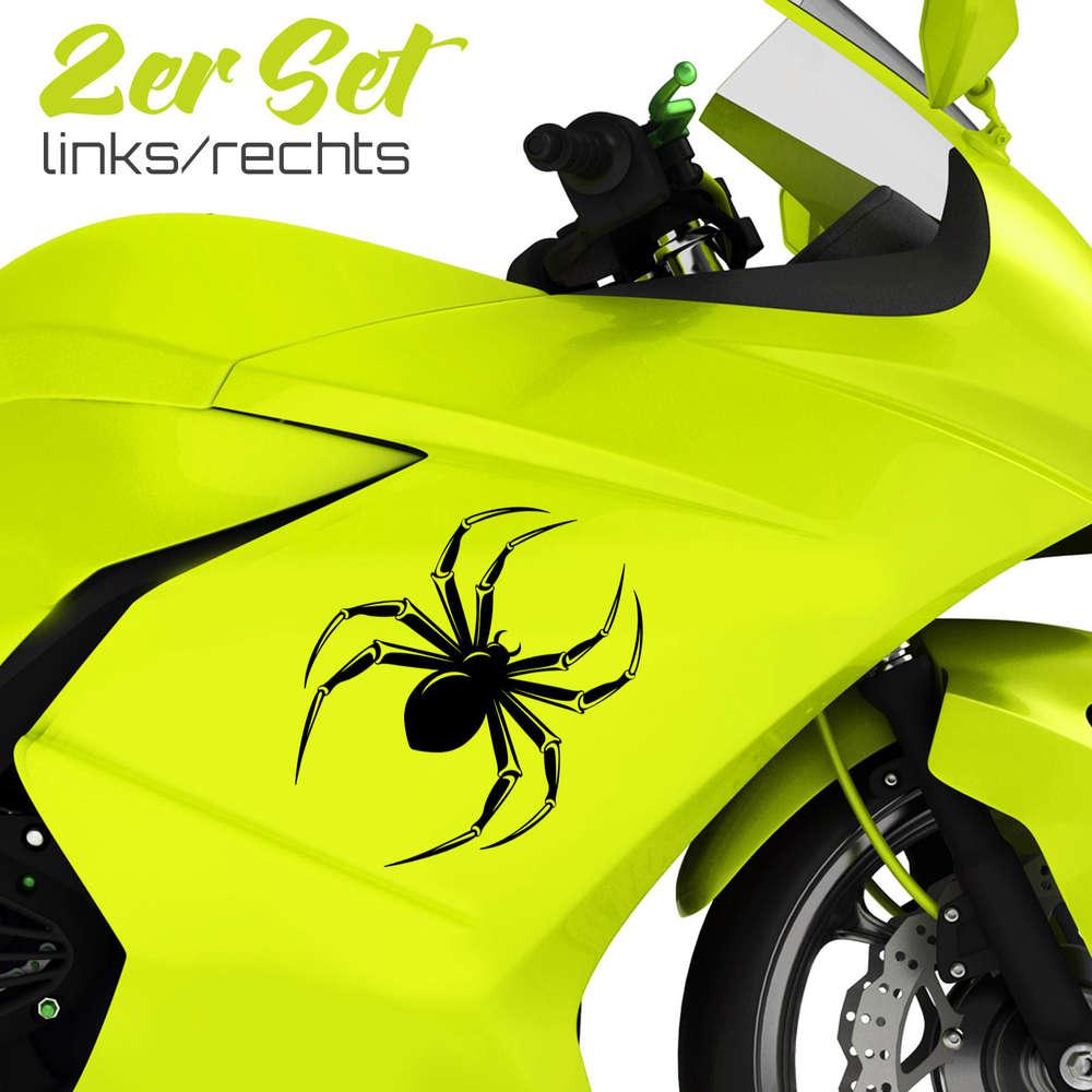 Motorrad Auto Aufkleber Spinnen 2er Set Coole Seitenaufkleber