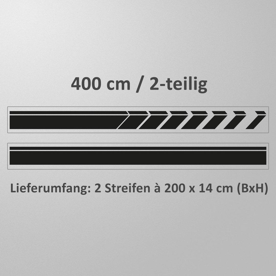 auto aufkleber viperstreifen 4 meter 1 seitlicher streifen. Black Bedroom Furniture Sets. Home Design Ideas