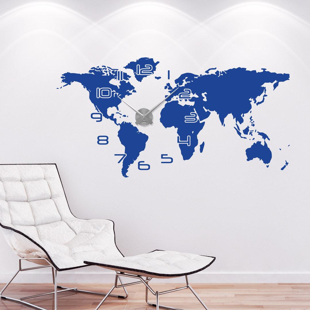 Brilliant Wandtattoo Weltkarte Referenz Von Wandtattoo-uhr