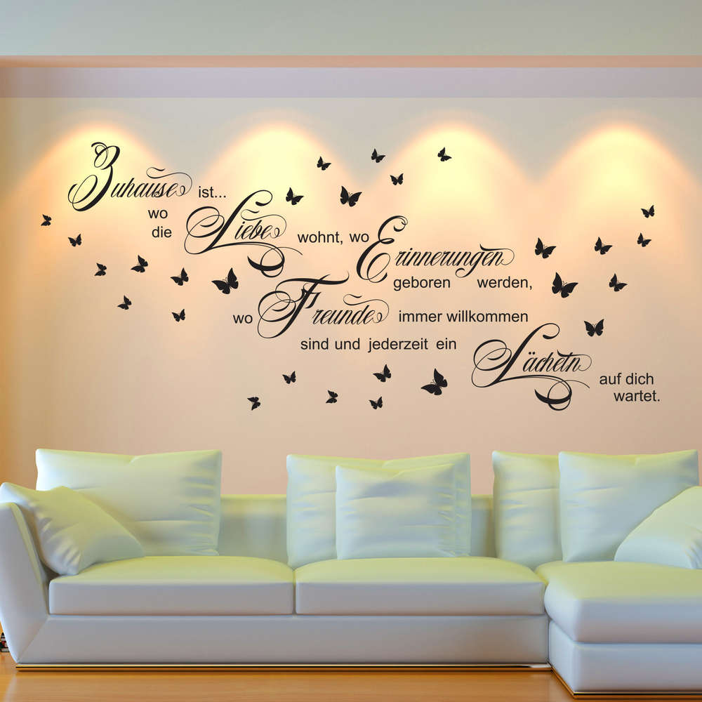 Wandtattoo Zuhause Ist Wo Die Liebe Wohnt Spruch Wand Bild